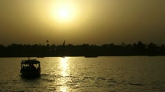 Sunset on the Nile in Egypt Stock Footage