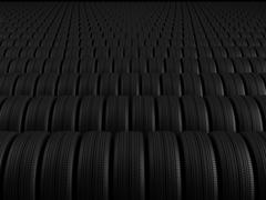 rows of automobile tire - stock photo