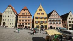 Germany, Rothenburg square Stock Footage