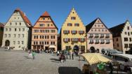 Stock Video Footage of Germany, Rothenburg square