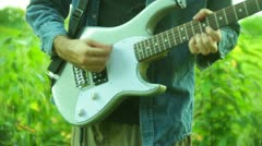 Country music guitarist guitar Stock Footage