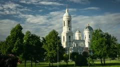 Prince Vladimir Orthodoxy cathedral, St. Petersburg, Russia (timelapse) Stock Footage