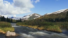 Alaskan Mountain Creek Hatcher Pass timelapse Stock Footage