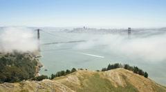 USA, SF, bridge, fog T/L Stock Footage