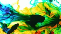 Colored Inks Mix In Water (HD) Stock Footage