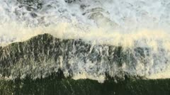 Water Flows Downward View Stock Footage