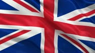 Seamless UK Flag Stock Footage