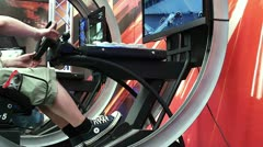 Auto racing on the slot machine. Stock Footage