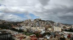 Las Palmas de Gran Canaria city skyline aerial, looking North timelapse HD Stock Footage