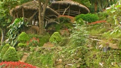 Jungle Huts Stock Footage