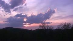 Purple Mountain Sunset Time Lapse Stock Footage