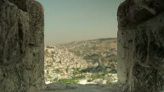 Jerusalem wall scenery Stock Footage