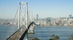 USA, San Fran bridge T/L Stock Footage