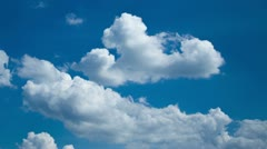 Clouds in blue sky timelapse - stock footage