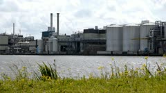Industrial landscape in the Netherlands Stock Footage