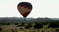 Hot Air Balloon Desert Aerial 6 Stock Footage
