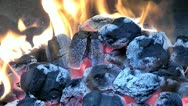 Stock Video Footage of Barbeque fire