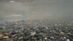 Underwater stream roll the stones Stock Footage
