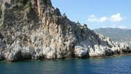 Stock Video Footage of Rocks on the Turkish coast
