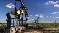 Oil Pump Jack - stock footage