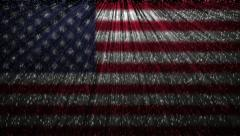 Stock Video Footage of American flag