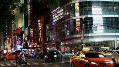 Nightlife Theater District - stock footage