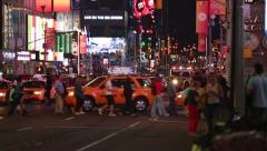 NYFD at Times Square Stock Footage