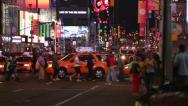 Stock Video Footage of NYFD at Times Square