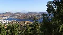 Patmos from above Stock Footage