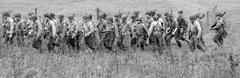 american world war 2 troops band of brothers - stock photo