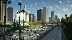 USA, LA, freeway T/L Stock Footage
