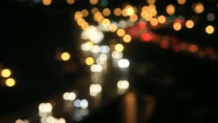 Blurred lights of night traffic during rush hour Stock Footage