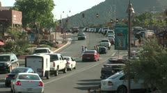 Sedona Arizona Uptown Traffic Medium - stock footage