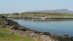 Port Mor bay Isle of Muck Scotland Stock Footage