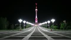 Stock Video Footage of night Ashgabat 4.mp4