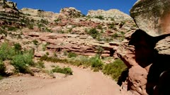 Capitol Reef National Park - Hiking Trail 1 Stock Footage