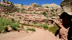 Capitol Reef National Park - Hiking Trail 2 Stock Footage