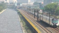 Train Tracks, Trains, Mass Transit, Public Transportation Stock Footage
