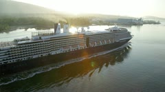 Vancouver, bc canada - may 19 2012 cruise ship in burrard inlet Stock Footage