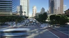 USA, LA Downtown T/L Stock Footage