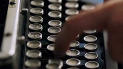 Old Typewriter Typing - stock footage