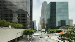 USA, LA Downtown T/L Stock Footage