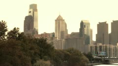 Skyline of Philadelphia, USA Stock Footage