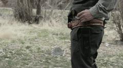 Cowboy twitch Knife Stock Footage