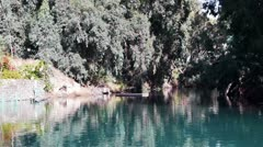 Stock Video Footage of Jordan river tranquil landscape view