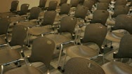 Stock Video Footage of chairs in a small auditorium