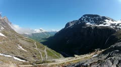 Mountain time lapse Norway Stock Footage