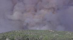 Smoke from fast moving wildfire in the western United States HD6632 Stock Footage