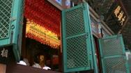 Asian women praying Buddha in temple Stock Footage