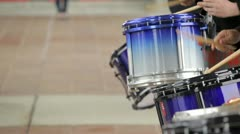 Burnaby, b.c. canada. - june 14 2012 simon fraser university  drum and pipe b Stock Footage